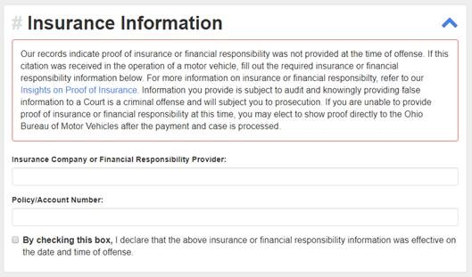 Providing proof of insurance